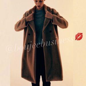 ZARA Faux Fur Wrap Coat